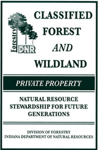 classified forest and wildland sign