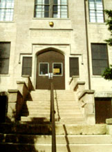 Banneker School Gymnasium (NRHP, HPF) - Main Entrance Before