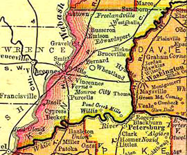 Knox County Indiana Map.Dnr Underground Railroad Sites Knox County
