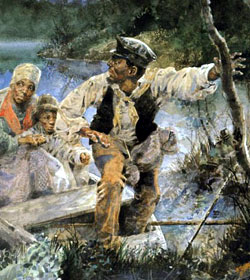 "Painting - ""The Underground Railroad"""