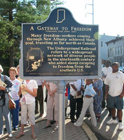 New Albany Underground Railroad Historical Marker