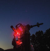 John Coulston prepares to photograph the night sky during the Indiana Family Star Party.