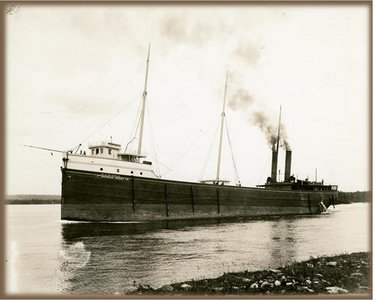 View of vessel's port side, circa 1898. Used with permission, Great Lakes Marine Collection of the Milwaukee Public Library / Milwaukee Public Library