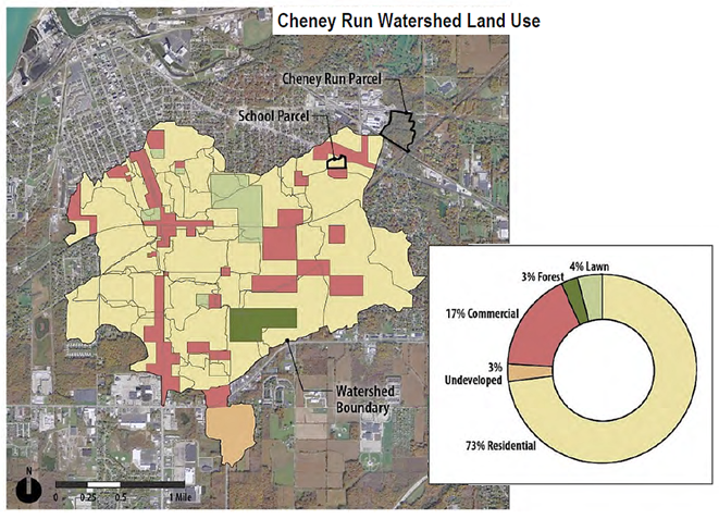 Map of Cheney Run Area Plan