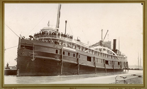 The Muskegon [Peerless] historic picture, view of vessel's port side when it was a passenger vessel, circa 1880. Used with permission, Great Lakes Marine Collection of the Milwaukee Public Library / Milwaukee Public Library