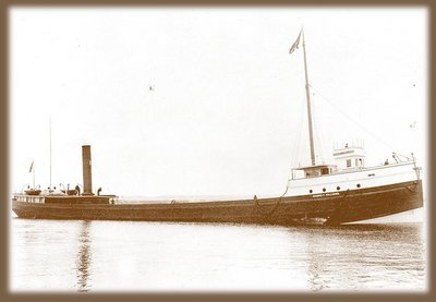 View of vessel's starboard side, circa 1900. Used with permission, Great Lakes Marine Collection of the Milwaukee Public Library / Milwaukee Public Library