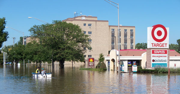 Flooding in Munster, Indiana