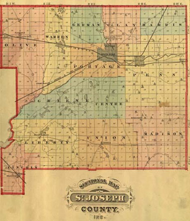 1975 atlas map of St. Joseph County
