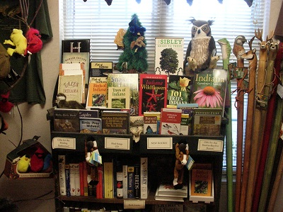 Some books for sale at the Otter Run Gift Shop