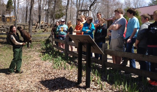 School group learns about eagle at Patoka Lake