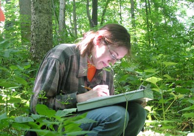 counting vegetation at Turkey Run
