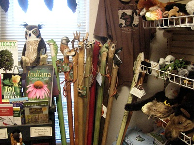 Some outdoor items for sale at the Otter Run Gift Shop