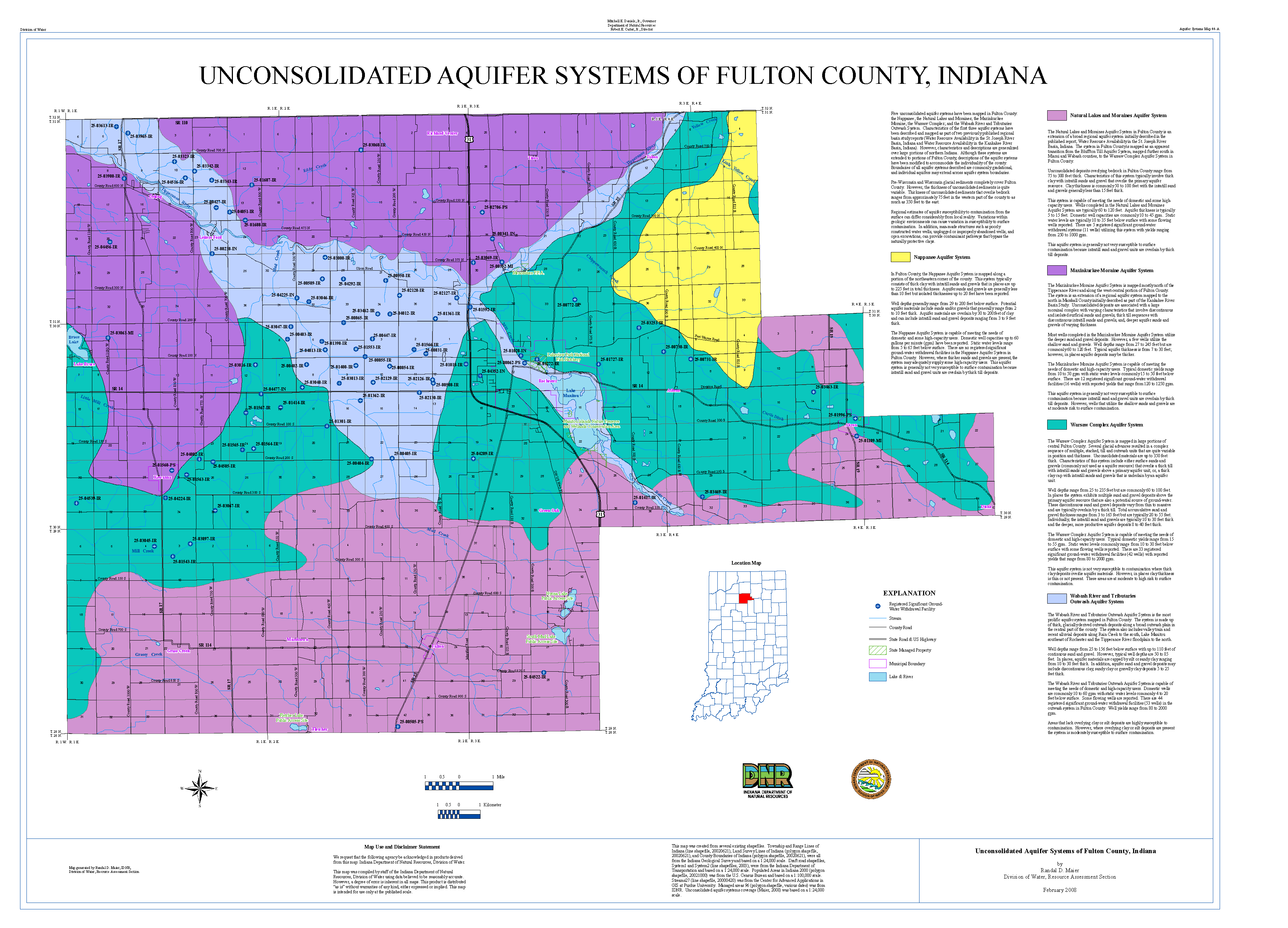 dnr aquifer systems maps 44 a and 44 b unconsolidated and