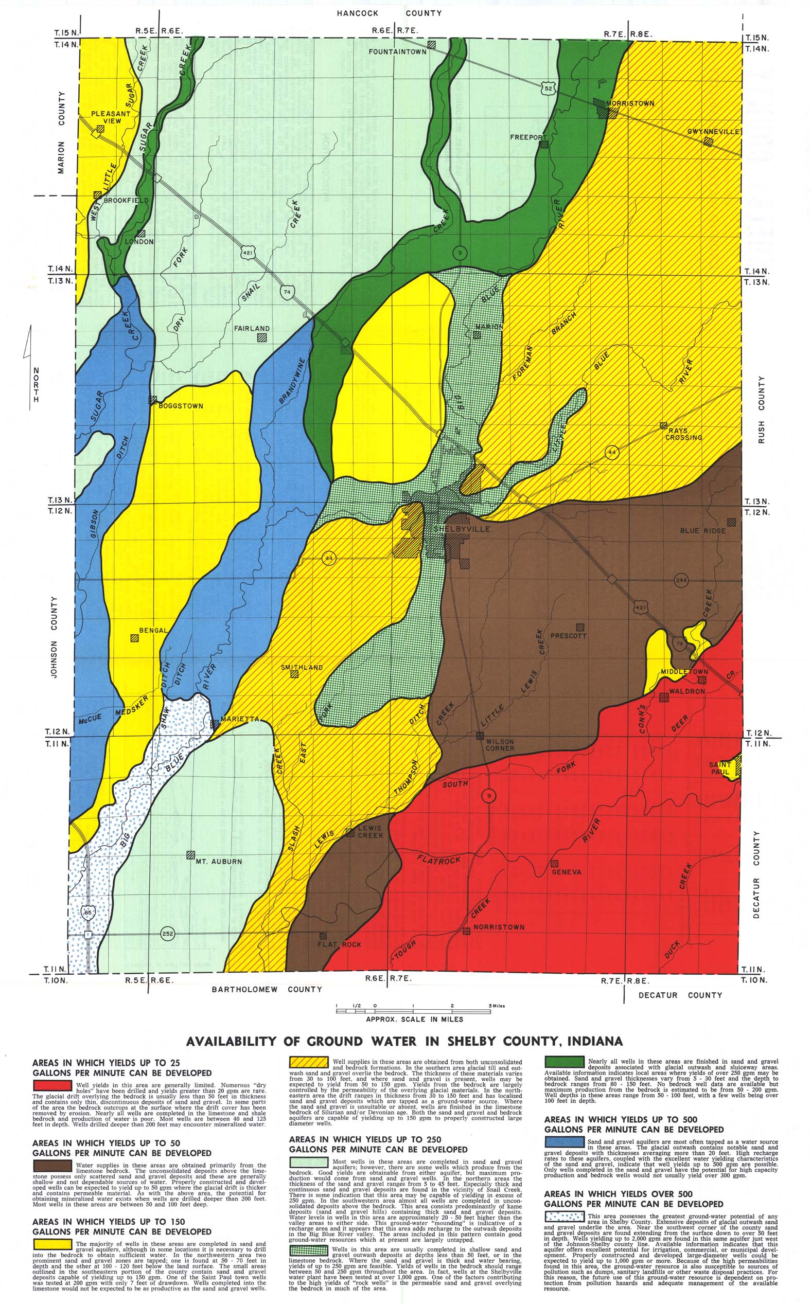 Boggstown Indiana Map.Dnr Ground Water Atlas 12