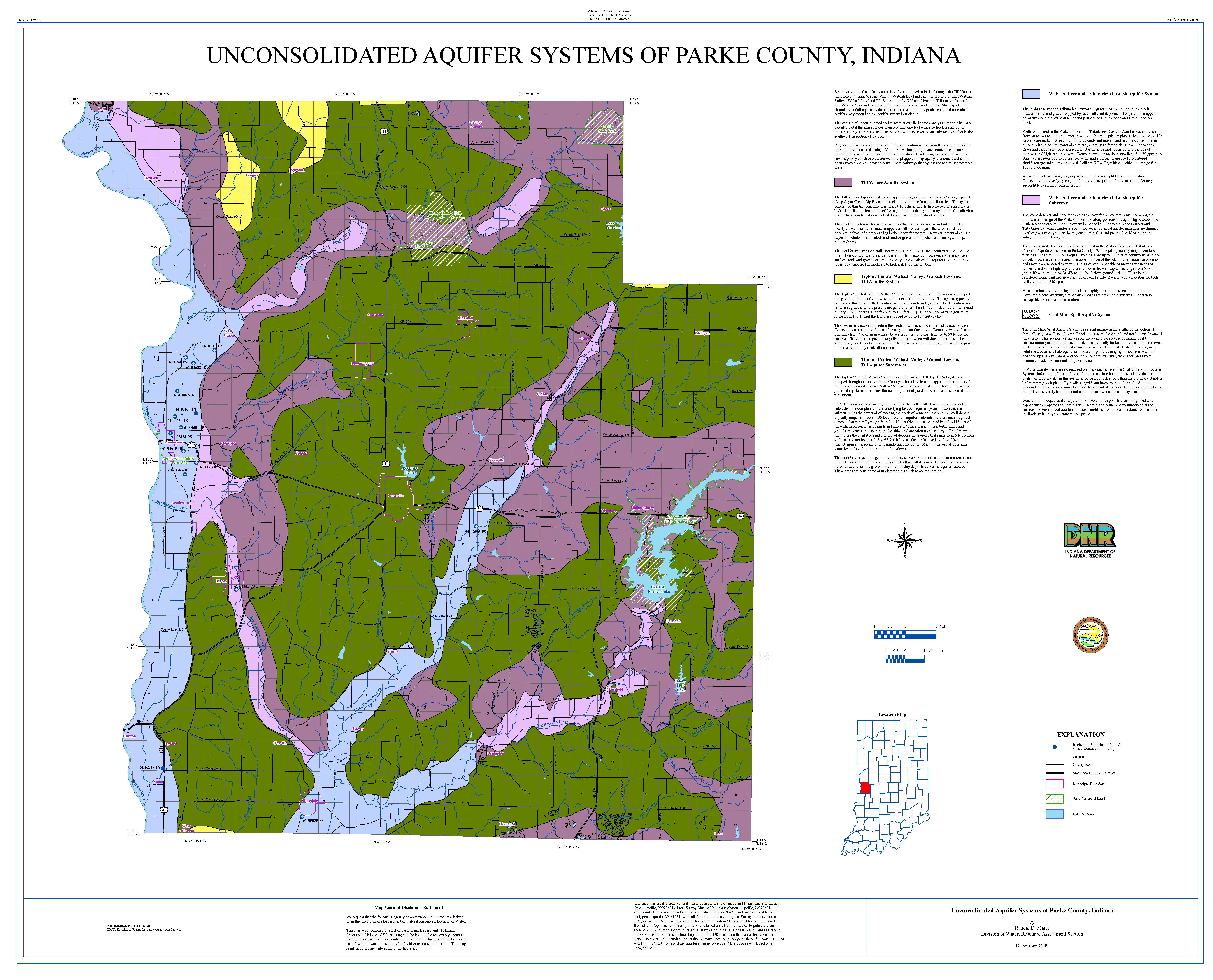 Dnr Aquifer Systems Maps 65 A And 65 B Unconsolidated And Bedrock