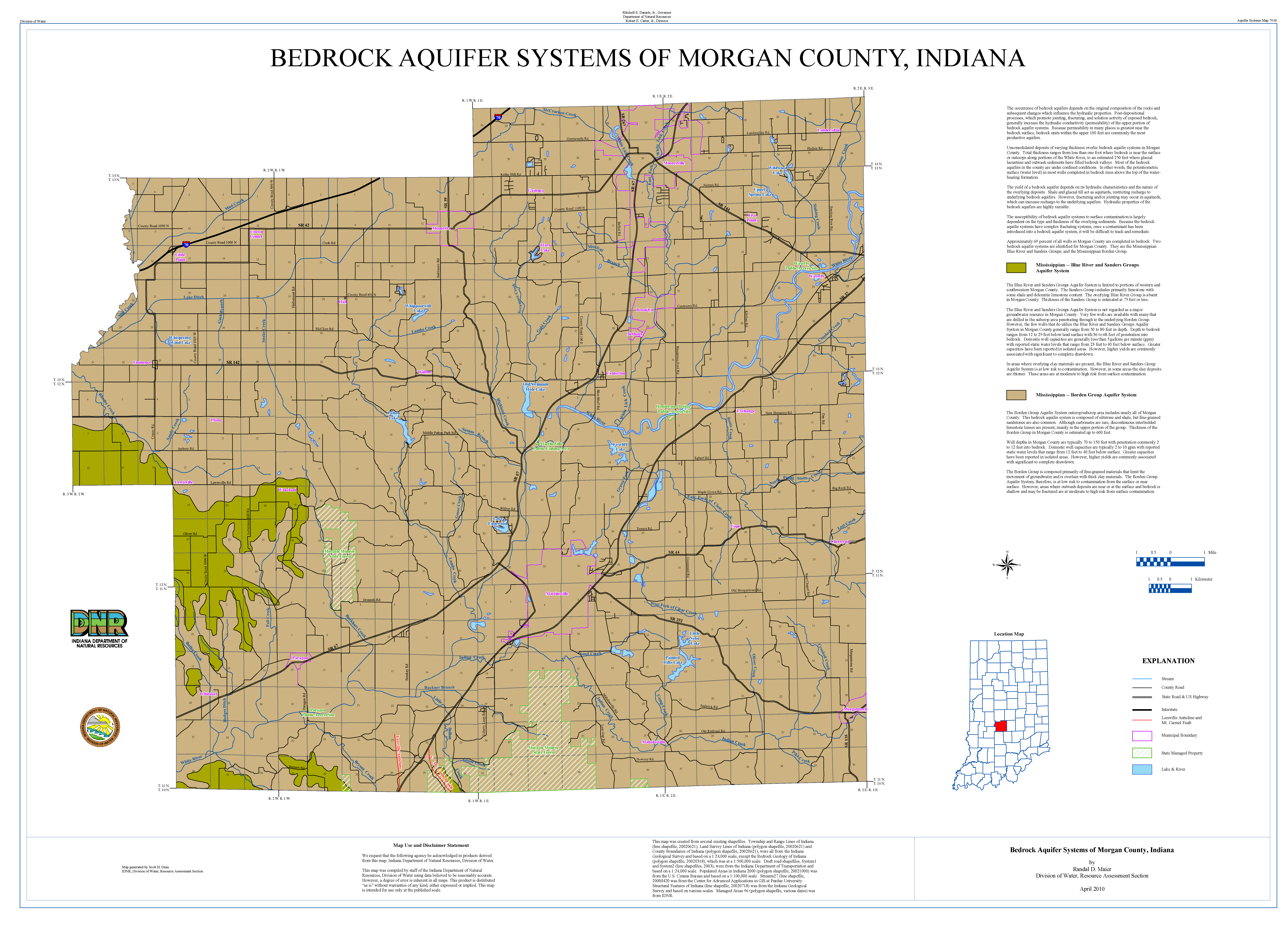 Dnr aquifer systems maps 70 a and 70 b unconsolidated and bedrock pdf format gumiabroncs Images