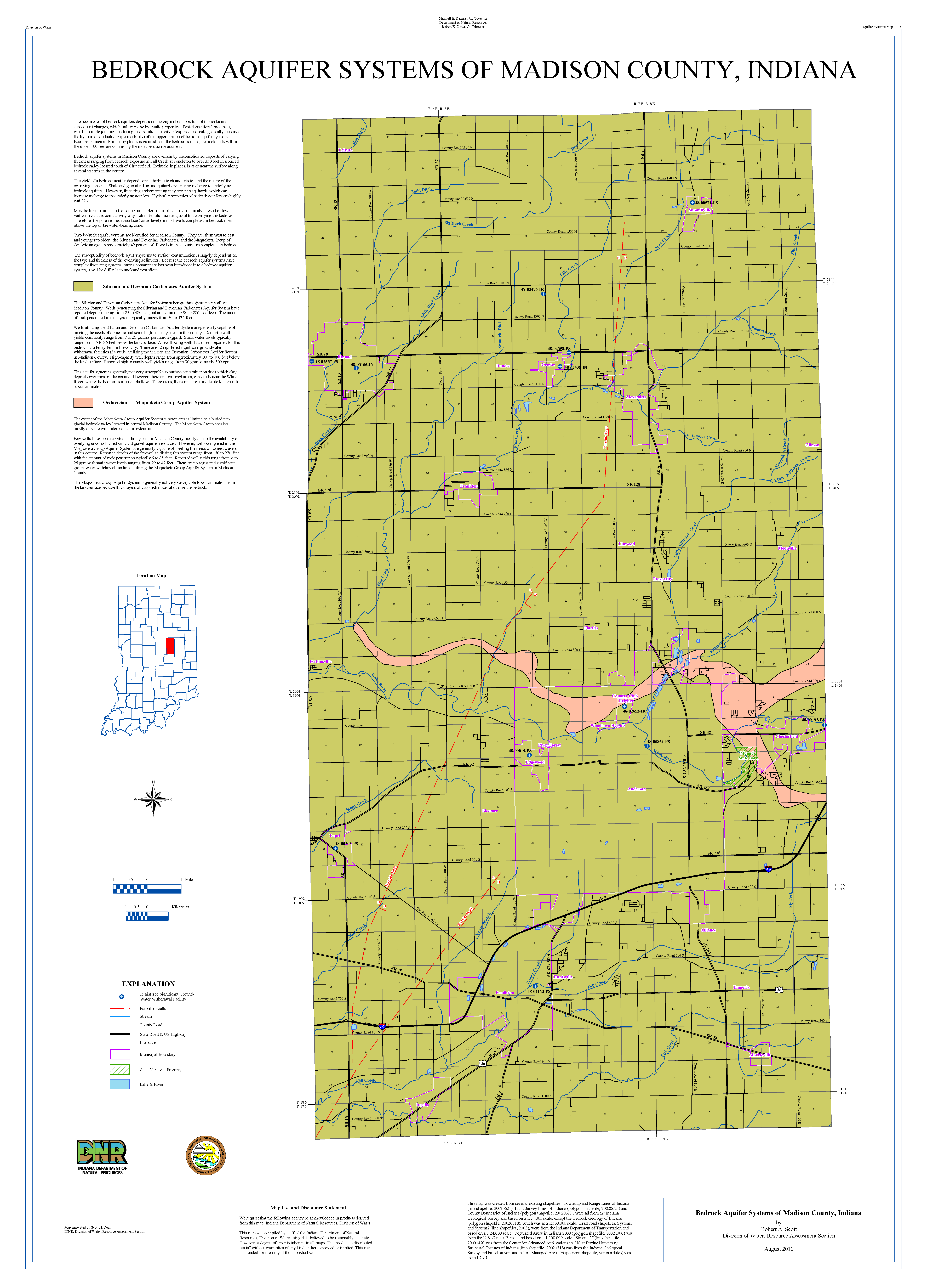 Dnr Aquifer Systems Maps 71 A And 71 B Unconsolidated And Bedrock