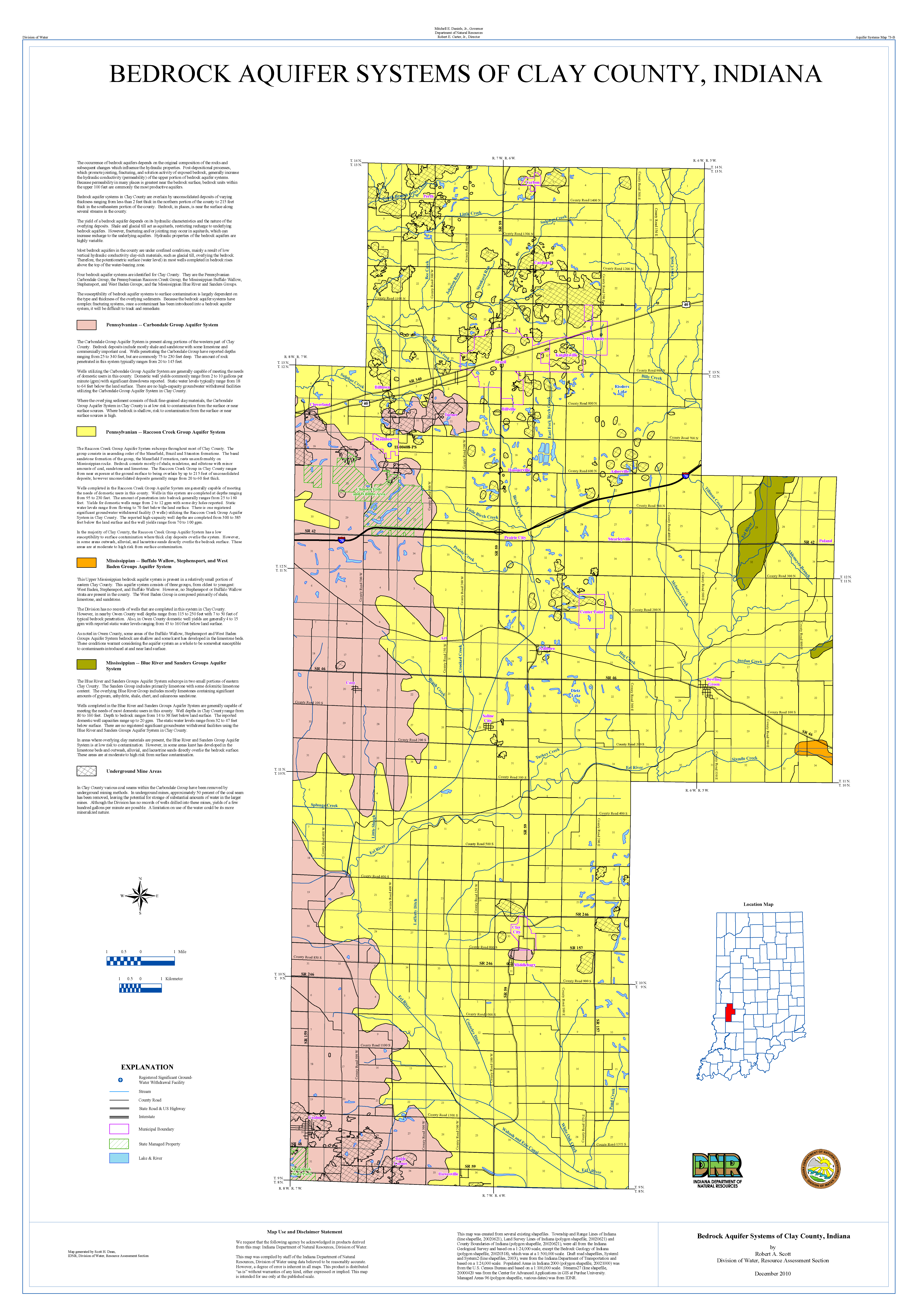 Dnr aquifer systems maps 73 a and 73 b unconsolidated and aquifer systems maps 73 a and 73 b unconsolidated and bedrock aquifer systems of clay county indiana 2010 pooptronica