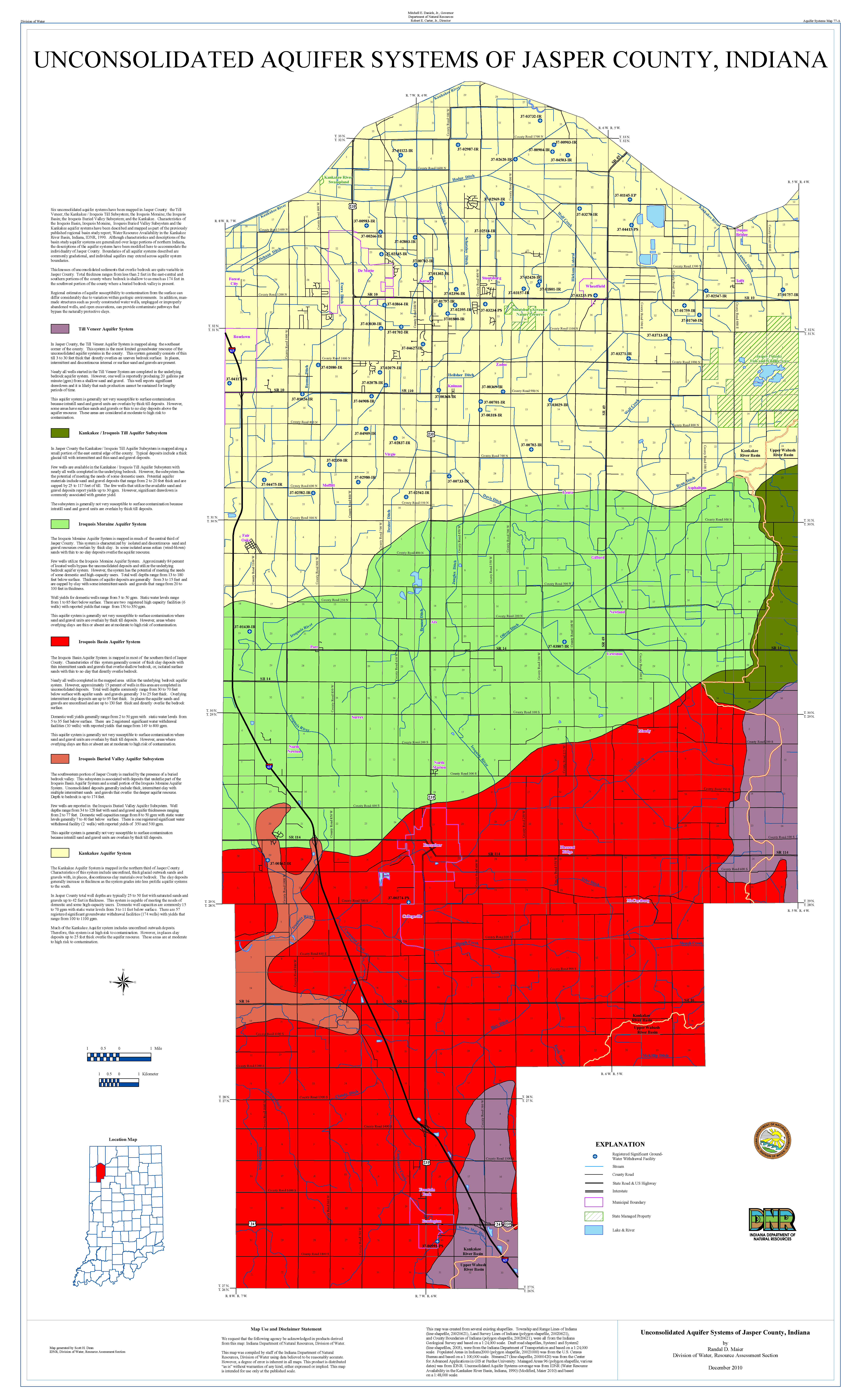 Dnr Aquifer Systems Maps 77 A And 77 B Unconsolidated And Bedrock