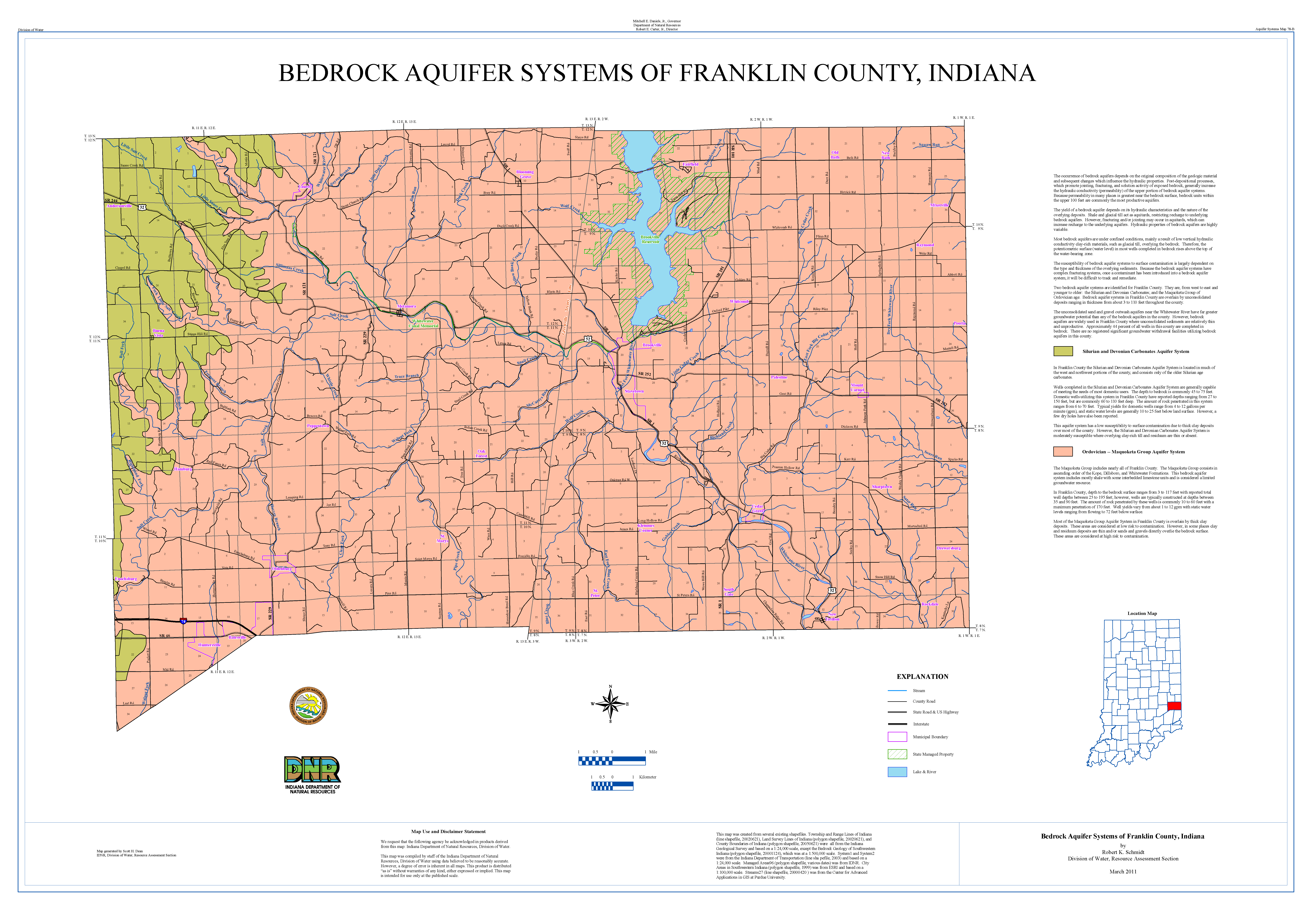 Dnr Aquifer Systems Maps 78 A And 78 B Unconsolidated And Bedrock