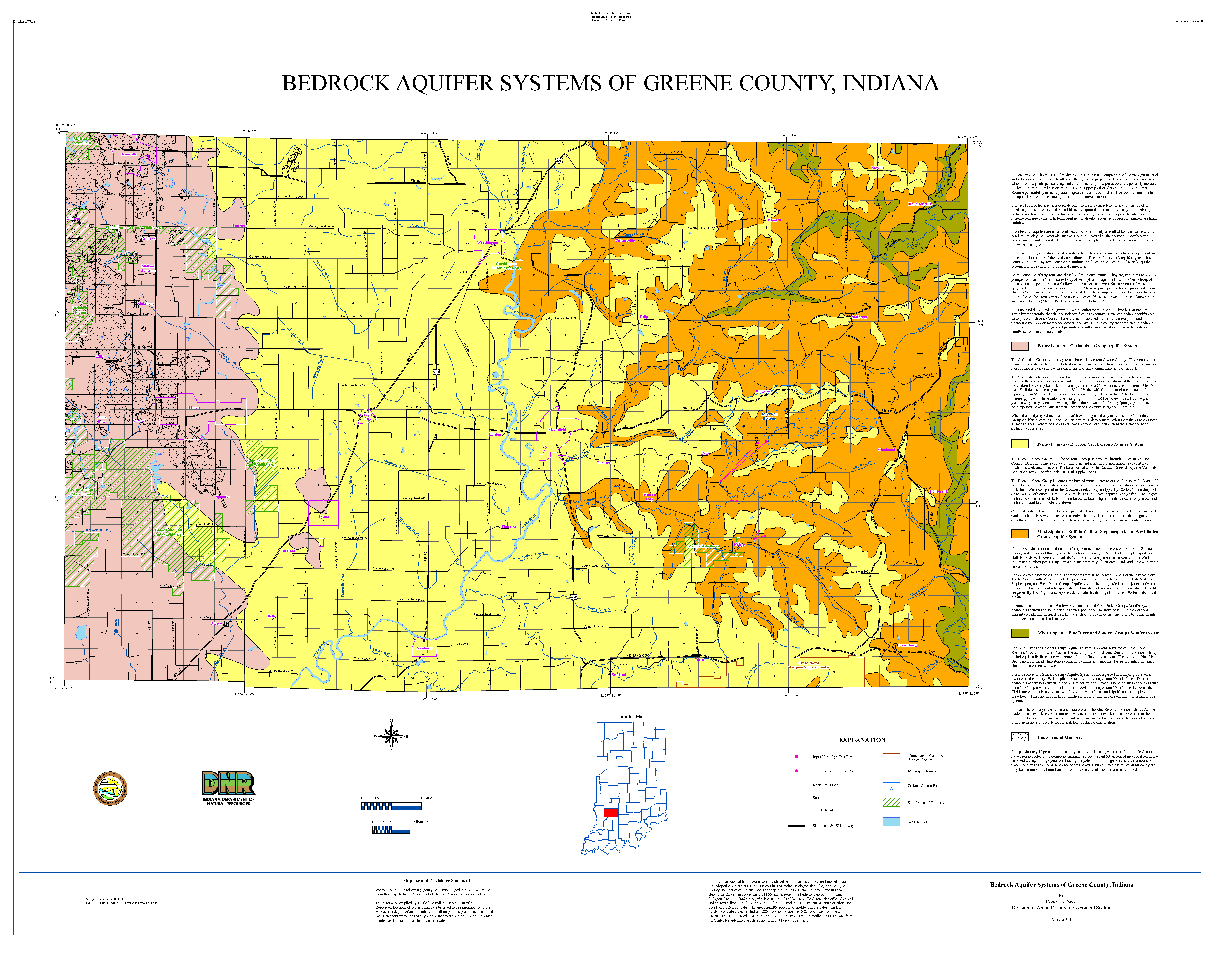 Dnr Aquifer Systems Maps 82 A And 82 B Unconsolidated And Bedrock