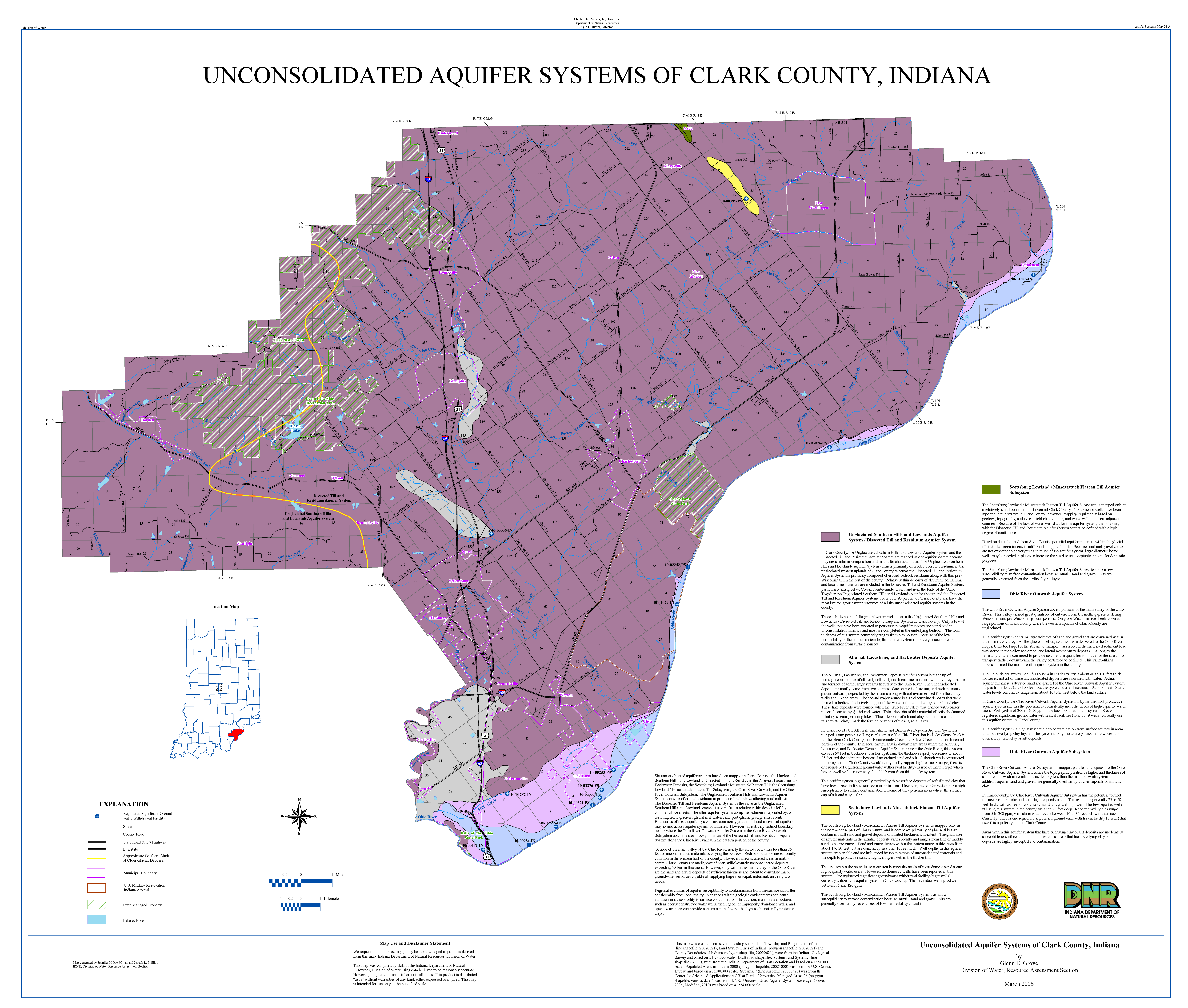 DNR: Aquifer Systems Maps 24-A and 24-B: Unconsolidated and ... on las vegas valley map, william clark map, clark island map, clark school map, clark sd map, north las vegas map, clark colorado map, las vegas township map, nevada map, sandy valley map, ohio map,