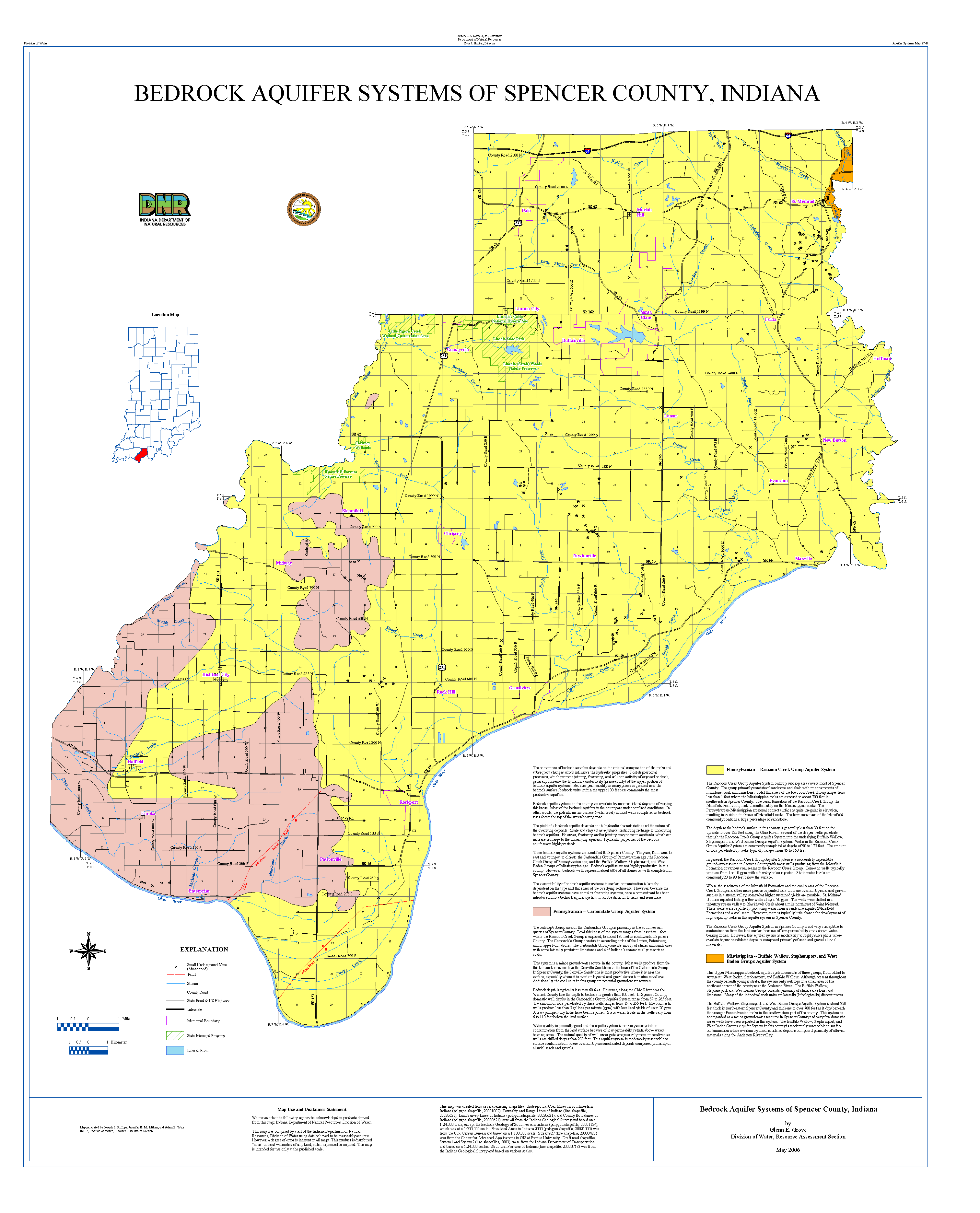 Dnr Aquifer Systems Maps 27 A And 27 B Unconsolidated And Bedrock