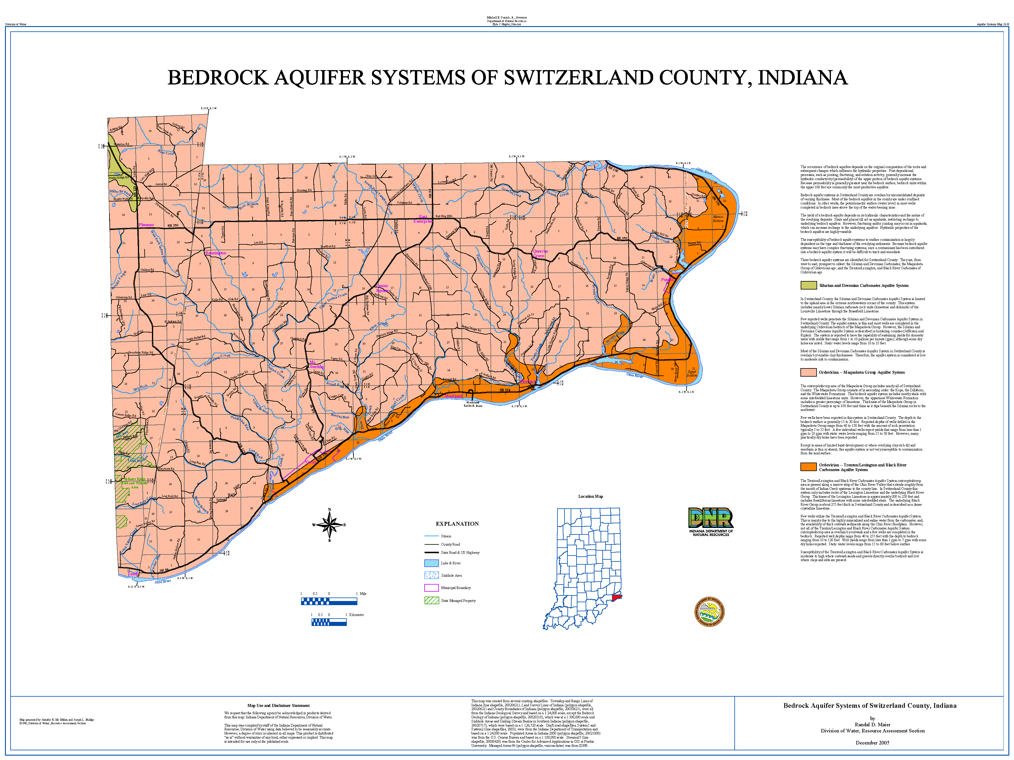 switzerland county indiana map Dnr Aquifer Systems Maps 22 A And 22 B Unconsolidated And
