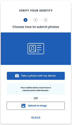 Choose how to submit photos screenshot