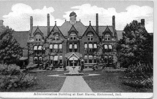 Picture of administration building post card