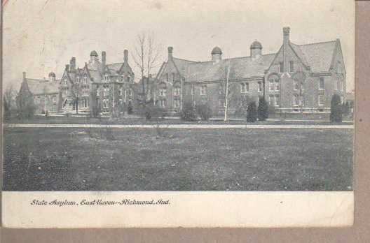 Picture of administration building and adjacent buildings post card