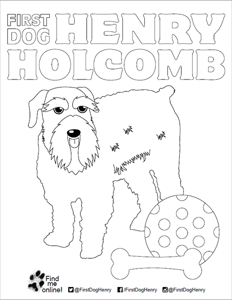 First Dog Henry Coloring Pages