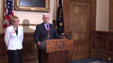 April 4, 2013: Governor Pence Discusses Senate Budget
