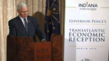 Germany Day 3: Governor Pence Addresses Friends of Indiana Gathering in Berlin