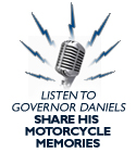 Governor Daniels Shares His Motorcycle Memories