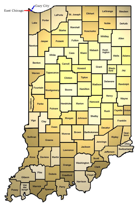 Indiana Map County.Isdh Vfc Provider Map