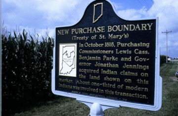 New Purchase Boundary (Treaty of St. Mary's) Indiana Historical Marker