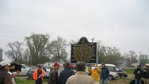 Wabash and Erie Canal Historic Marker Dedication