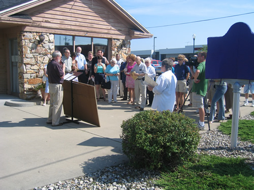 Approximately 35 people attended the marker dedication.