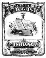 Maps of Indiana Counties in 1876