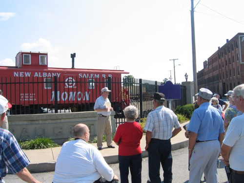 New Albany and Salem Railroad (The Monon) Historical Marker Dedication