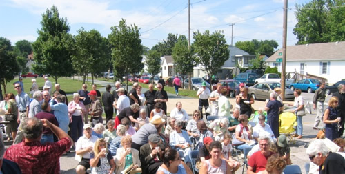 Over 100 people came to the dedication ceremony at the home where Ritter once lived.