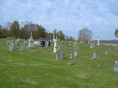The dedication ceremony took place in front of the old Laurel/Conwell Cemetery on the northeast edge of Laurel, Indiana.