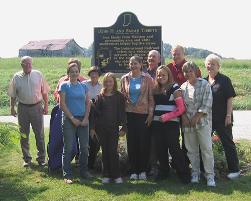 Tibbets decendants came from Minnesota, Kansas, Illinois, and Texas to participate in the Indiana state historical marker dedication.