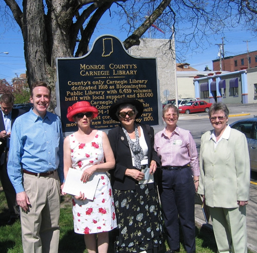Monroe County's Carnegie Library Historic Marker Dedication