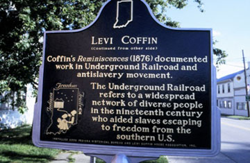 Levi Coffin Indiana Historical Marker