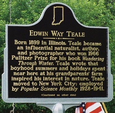 Edwin Way Teale Indiana Historical Marker side 1