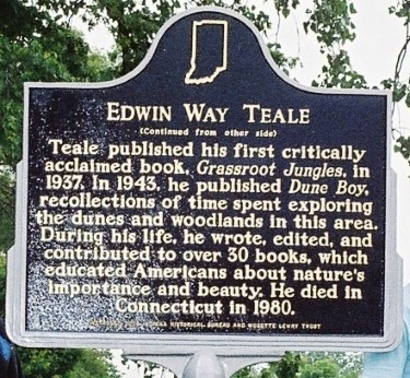 Edwin Way Teale Indiana Historical Marker side 2