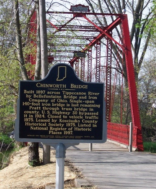 The Repair of the Chinworth Bridge Historical Marker