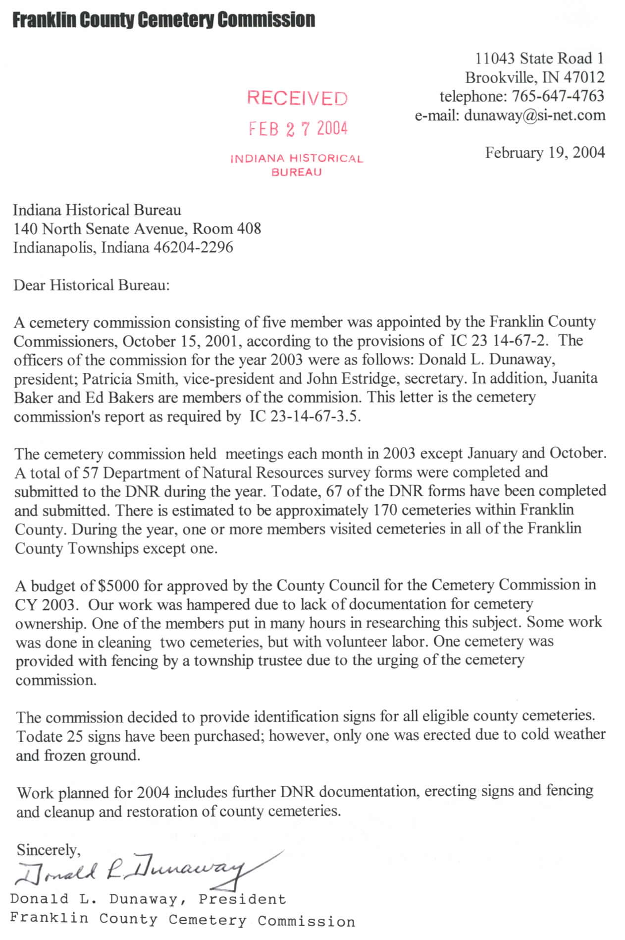 Ihb County Cemetery Commission